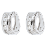 sales on line Earrings Enchantment - Funambule - white gold - 64 diamonds - 0.73 carats