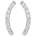 Earrings - Equilibrio - 18 carat white gold and diamonds