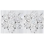 Earrings Freshness - Flower Snowflake variation - white gold