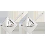 gift Earrings Genesis - Rough Diamonds - white gold - 18 carat