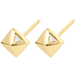 gift Earrings Genesis - Rough Diamonds - yellow gold - 9 carat