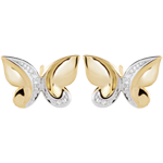 sales on line Earrings Imaginary Walk - Butterfly Cascade - yellow gold and diamonds