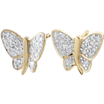 Earrings Imaginary Walk - Butterfly Musician - 2 golds
