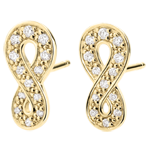 gifts woman Earrings Infinity - Yellow gold and diamonds