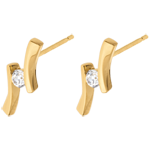 sales on line Earrings Precious Nest - Apostrophe diamond - yellow gold - 0.14 carats - 18 carats