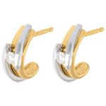 on line sell Earrings Precious Nest - Contemporary - yellow gold and white gold - 18 carats