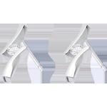 Earrings Precious Nest - Diamond Apostrophe - white gold - 18 carats