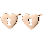 Earrings Precious Secret - Heart - Rose Gold