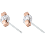 Earrings ring - rose gold. white gold