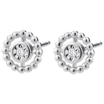 present Earrings Salty Flower - Circle - White Gold