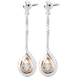 gold jewelry Earrings Tears of an antelope - pendants rose gold and white gold