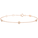 gift women Eclosion Bracelet - Roses Crown - diamonds - 9 carat pink gold
