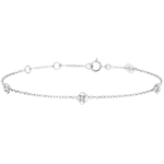 gift woman Eclosion Bracelet - Roses Crown - diamonds - 9 carat white gold