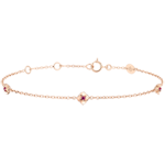 sales on line Eclosion Bracelet - Roses Crown - rubies - 9 carat pink gold