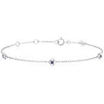 buy on line Eclosion Bracelet - Roses Crown - sapphires - 9 carat white gold