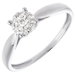 wedding Elegance ring white gold paved - 7 diamonds