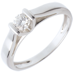 gift Elegance Solitaire ring white gold - 0.24 carat