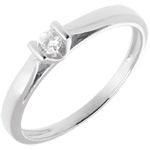 gift woman Elegance Solitaire ring white gold