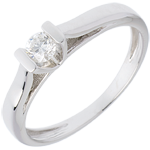 Elegance Solitaire ring white gold