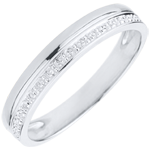women Elegance Wedding Ring - White gold - 9 carats