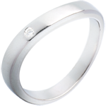 Ellipse ring white gold
