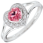 buy on line Enchanting Pink Topaz Heart Ring - 18 carats
