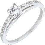 weddings Engagement Ring - Avalon - 0.195 carat diamond - white gold and diamond