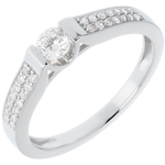present Engagement Ring Destiny - Arch - diamond 0.31 carat - white gold - 18 carats