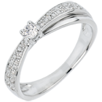buy on line Engagement Ring Destiny - Diaphane - white gold - 18 carats