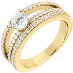 gifts Engagement Ring Destiny - Duchess - Yellow Gold - 0.5 carat diamond center - 67 diamonds