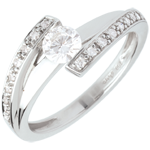 Engagement Ring Destiny - Eleanor - white gold - 0.37 carat diamond