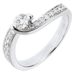 Engagement Ring Destiny - Summer Solstice - diamond 0.49 carats- 18 carats