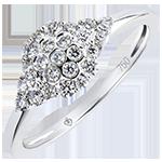 Engagement Ring Freshness- Honeycomb - white gold 9 carats and diamonds