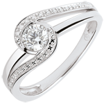 gifts Engagement Ring Precious Nest Solitaire - Preciosa - - 0.3 carat diamond - white gold 9 carats