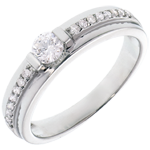 women Engagement Ring Solitaire Destiny - Eugenie - 0.22 carat diamond