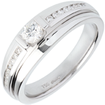 gift women Engagement Ring Solitaire Destiny - Eugenie variation - 0.22 carat diamond