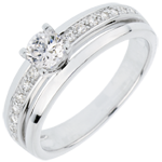 jewelry Engagement Ring Solitaire Destiny - My Queen - large size - white gold - 0.33 carat diamond