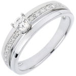 wedding Engagement Ring Solitaire Destiny - My Queen - small size - white gold - 0.20 carat diamond
