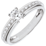 gifts women Engagement Ring Solitaire Destiny - My Queen - variation - white gold - 18 carat