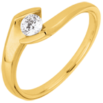 sales on line Engagement ring summer evening yellow gold - 0.22 carat