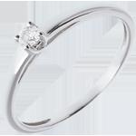 bijoux or L'essentiel d'un solitaire or blanc - 0.08 carat