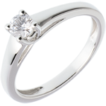 bijou L'essentiel d'un solitaire or blanc - 0.25 carat