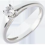 L'essentiel d'un solitaire or blanc 18 carats - 0.25 carats