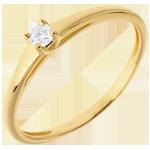 ventes en ligne L'essentiel d'un solitaire or jaune - 0.08 carat