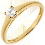 achat en ligne L'essentiel d'un solitaire or jaune - 0.19 carat