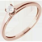 cadeau femme L'essentiel d'un solitaire or rose - 0.125 carat