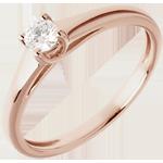 bijoux or L'essentiel d'un solitaire or rose - 0.185 carat