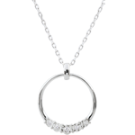 sell on line Eternita Necklace with 5 diamonds - 18ct