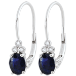 on line sell Exquisite Diamond and Sapphire Earrings