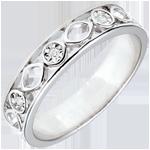 matrimonio Fede Apolyne - Oro bianco - 9 carati - 3 Diamanti